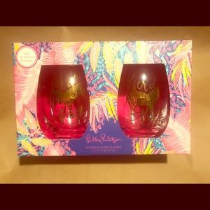 Lily Pulitzer Herd That stemless whine glasses